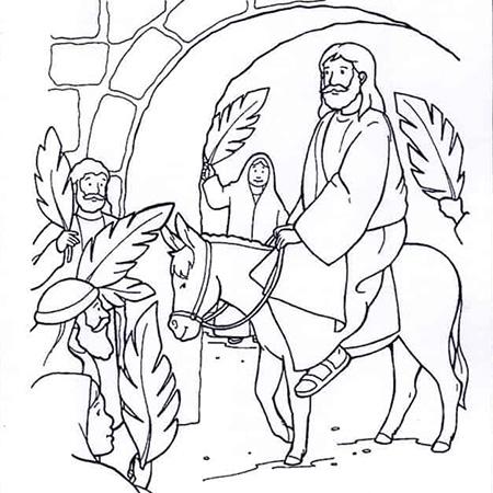 kleurplaat pasen jezus klein